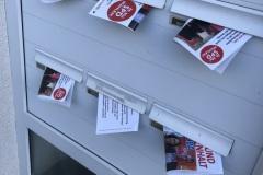 Flyerverteilung Wahlkampf 2019